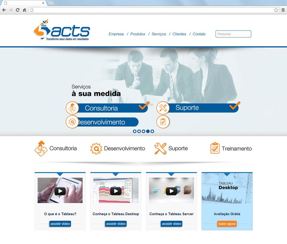 Novo site da 5 Acts