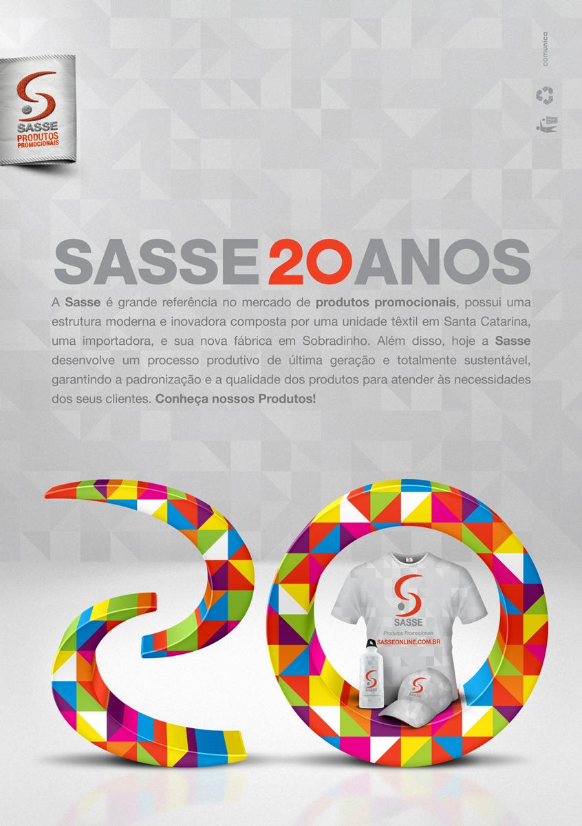 Panfleto promocional de 20 anos da Sasse - frente