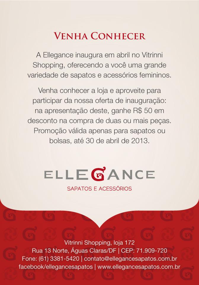 Verso do panfleto promocional Ellegance